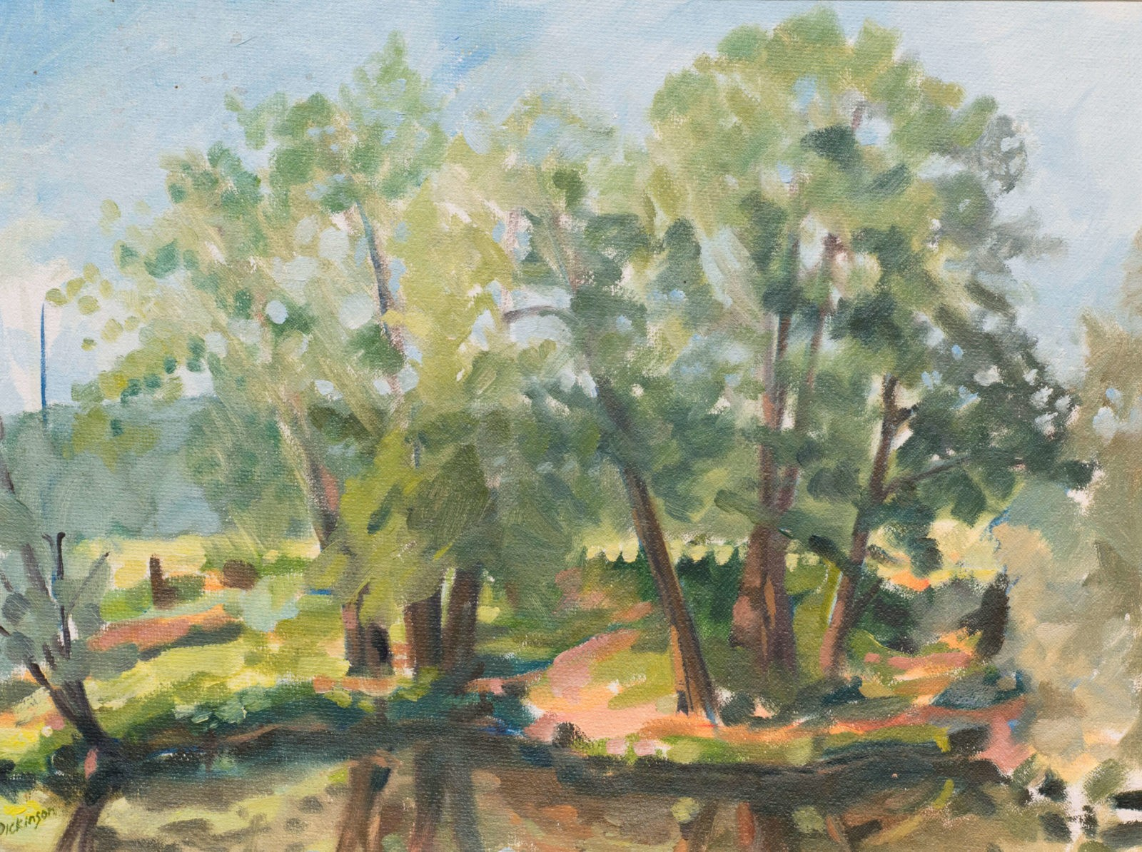 Two clusters of trees by the Lot